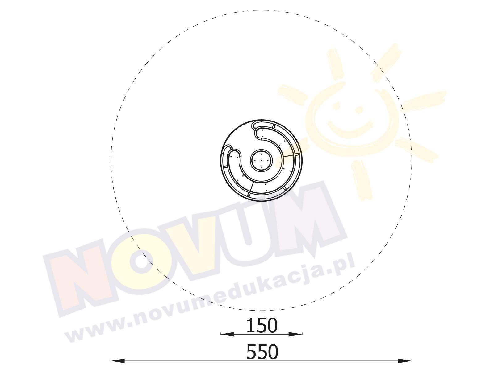 Karuzela tarczowa śr. 150 z siedziskami
