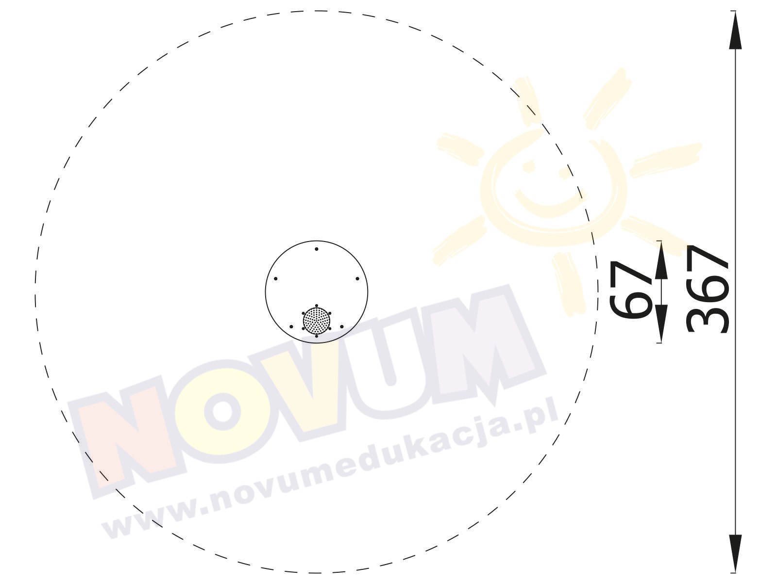 Stolik z sitkiem okrągły
