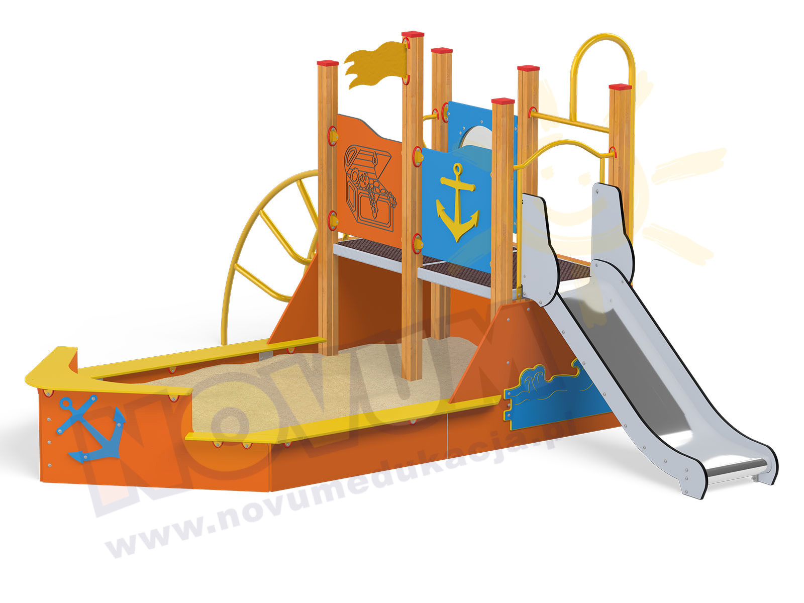 Quadro statek z piaskownicą 12512EN